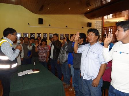 JURAMENTARON 47 PRESIDENTES DE JUNTAS VECINALES DEL DISTRITO DE TORATA