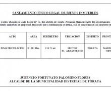 SANEAMIENTO FÍSICO LEGAL DE BIENES E INMUEBLES