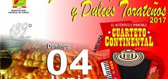 TORATA REALIZARÁ SU FESTIVAL DE PANES Y DULCES