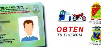 OPORTUNIDAD PARA SACAR TU LICENCIA DE CONDUCIR DE MOTO EN TORATA.