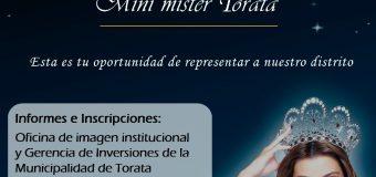 """COMISIÓN DE FEESTEJOS DEL 190º ANIVERSARIO A """"ELEVACIÓN A VILLA HEROICA DE TORATA"""", REALIZA LA CONVOCATORIA PARA PARTICIPAR EN LA ELECCIÓN Y CORONACIÓN DE MINI MISS TORATA, MINI MISTER TORATA Y SEÑORITA TORATA 2018"""