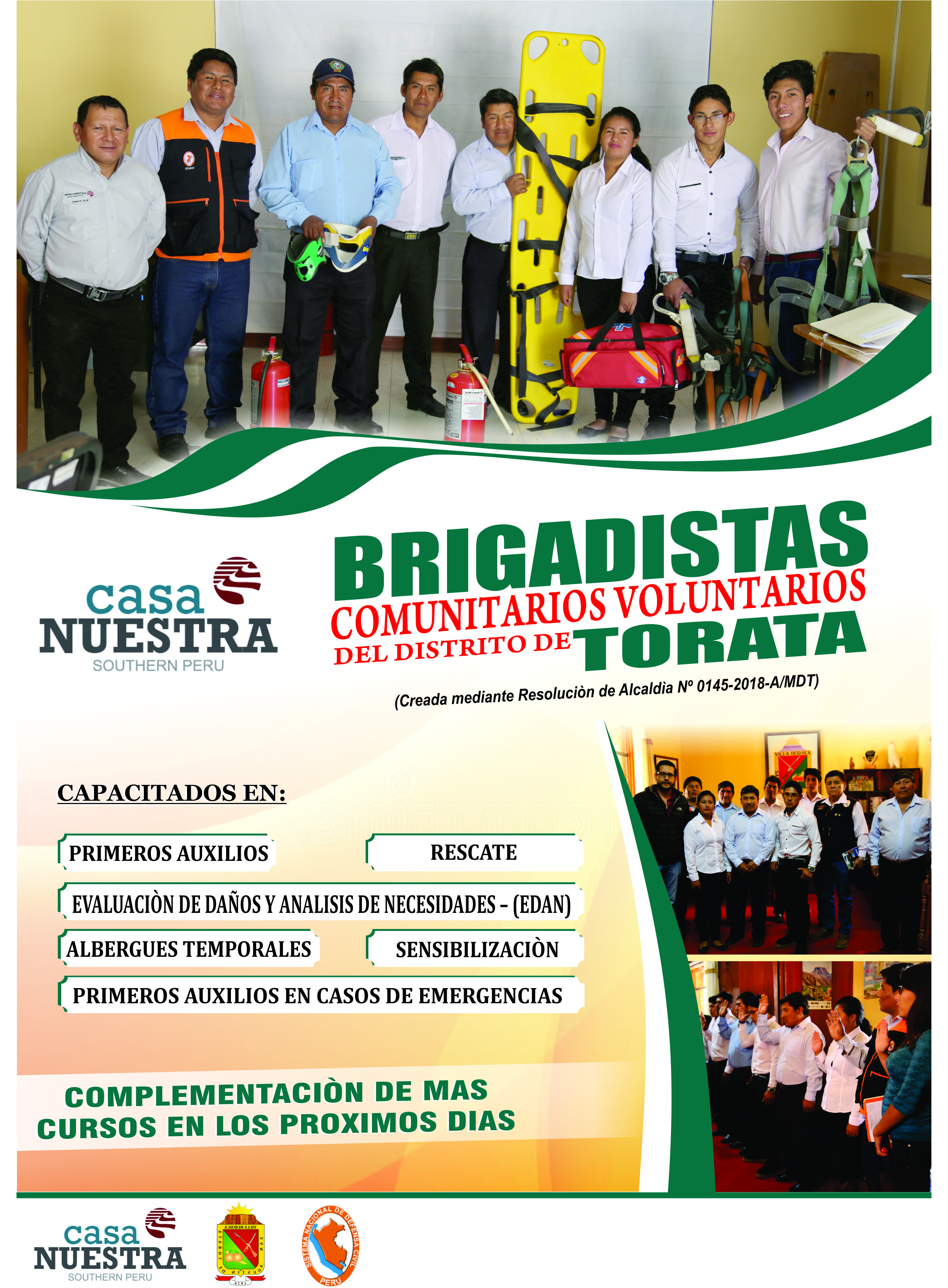 NUEVOS BRIGADISTAS COMUNITARIOS PARTICPAN EN TRABAJOS DE SENCIBILIZACIÓN