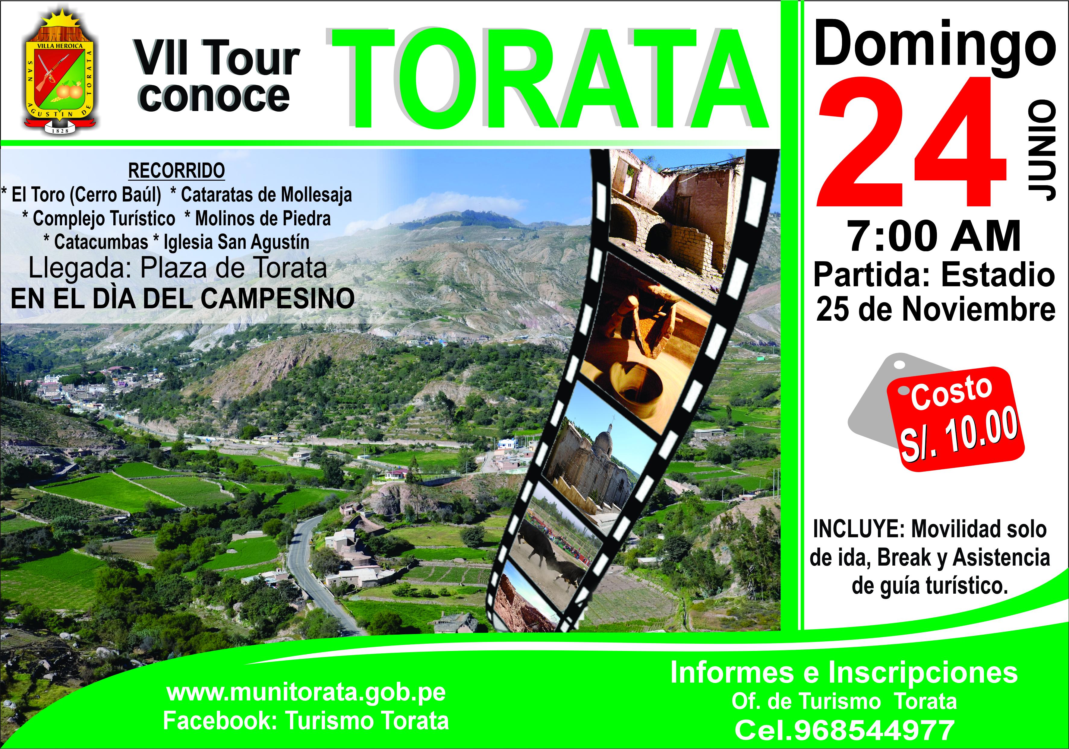 """ESTE DOMINGO SE REALIZARÁ EL VII TOUR """"CONOCE TORATA"""""""