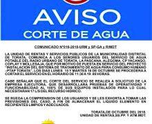 CORTE DE AGUA EN TORATA Y ANEXOS
