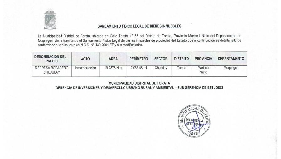 SANEAMIENTO FISICO LEGAL DE BIENES INMUEBLES