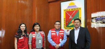 ALCALDE DE TORATA RECIBE LA VISITA DE LOS REPRESENTANTES DEL PROGRAMA QALIWARMA EN MOQUEGUA