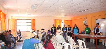 ALCALDE DE TORATA Y AGRICULTORES DE OTORA CONCERTARAN ESFUERZOS PARA LOGRAR PROYECTOS EN BENEFICIO DE LA AGRICULTURA