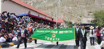 ALCALDE DE TORATA EXPRESA SU SALUDO A LA PROVINCIA GENERAL SANCHEZ CERRO POR SU LXXXIII ANIVERSARIO