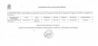 SANEAMIENTO FÍSICO LEGAL DE BIENES INMUEBLES