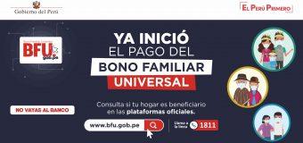 SEGUNDO BONO FAMILIAR UNIVERSAL: CONSULTE SI ES PARTE DEL PADRÓN DE BENEFICIARIOS PARA RECIBIR EL SUBSIDIO DE 760 SOLES