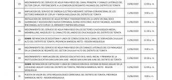PERSONAL OBRERO PASARA TAMIZAJE PARA EL DESCARTE DEL COVID-19 PREVIO AL REINICIO DE OBRAS EN LA MUNICIPALIDAD DE TORATA